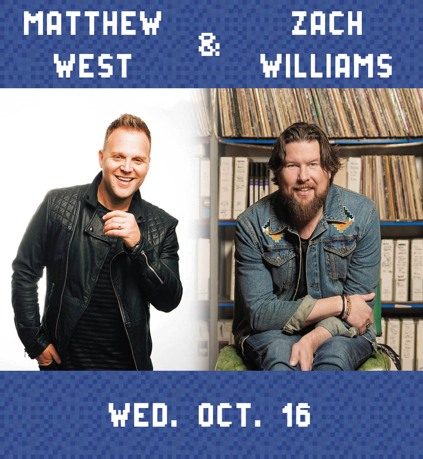 Web Page Concert Photo – Matthew West and Zach Williams