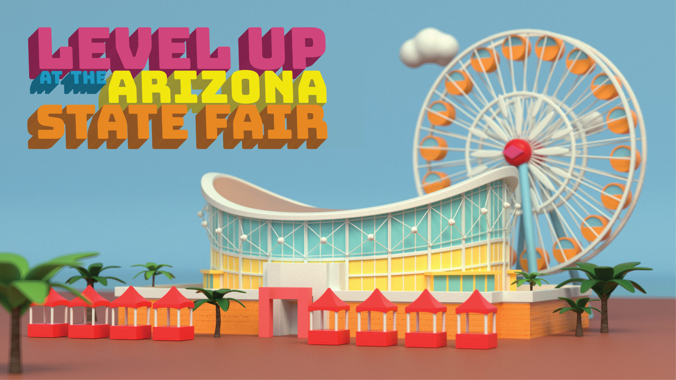 web landing page Level Up at the Arizona State Fair