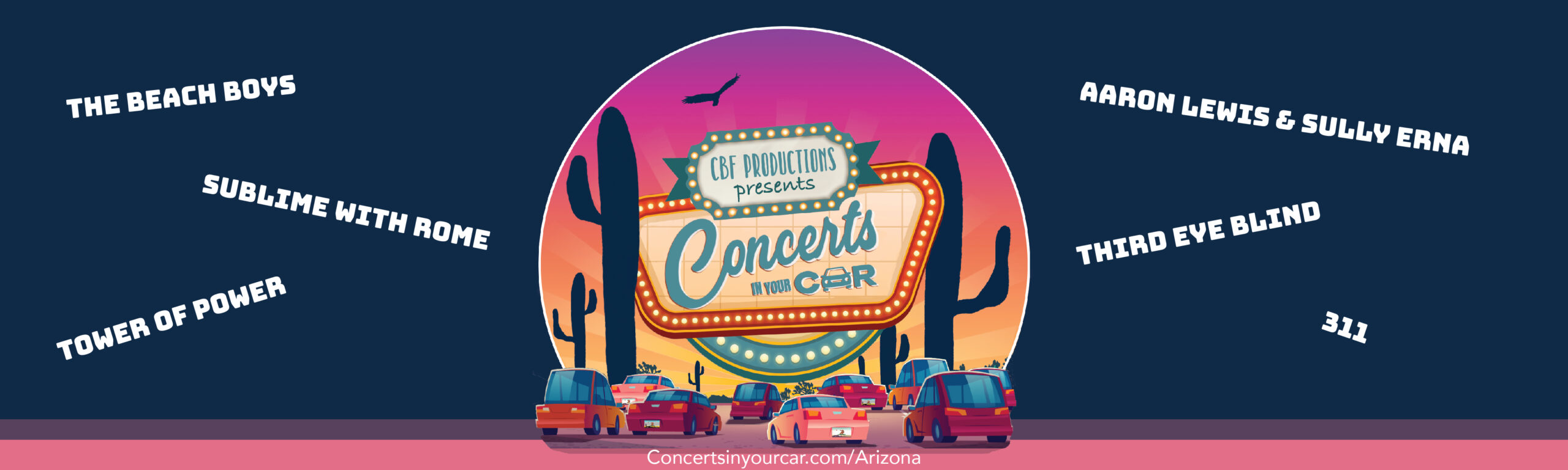 Concerts In your Car Landing Page