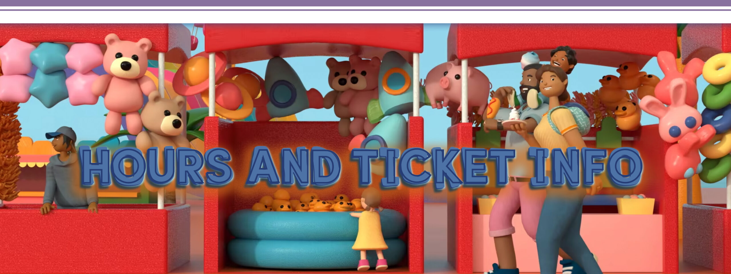 hours and ticket info header web banner